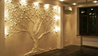 обои с деревьями с текстурой