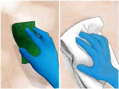 При работе лучше использовать резиновые перчатки