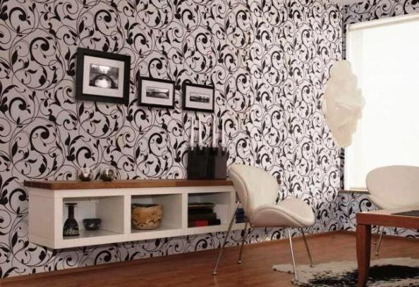 Флизелиновые обои отлично смотрятся в интерьере любой комнаты