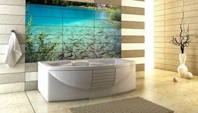 Фотообои для ванной комнаты берег рыбы