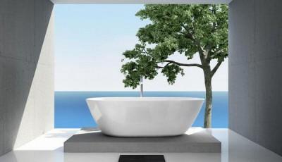 Фотообои для ванной комнаты дерево