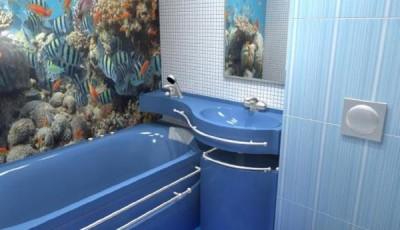 Фотообои для ванной комнаты кораллы рыбки