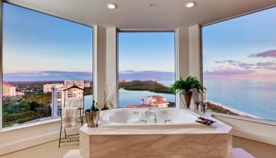 Фотообои для ванной комнаты курорт