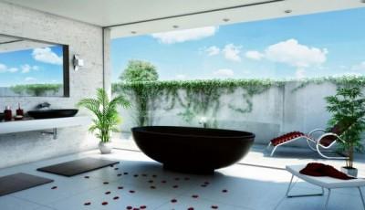 Фотообои для ванной комнаты небо