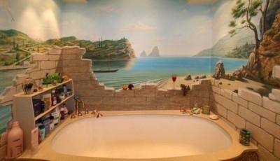 Фотообои для ванной комнаты панорамные