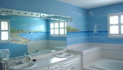 Фотообои для ванной комнаты паруса