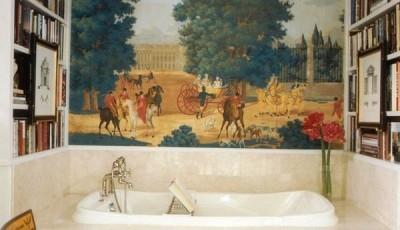 Фотообои для ванной комнаты под старину