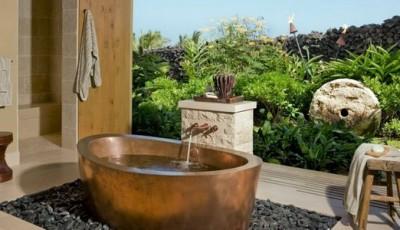 Фотообои для ванной комнаты растения