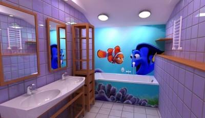 Фотообои для ванной комнаты рыбки дисней