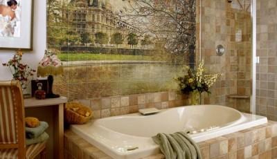 Фотообои для ванной комнаты замок