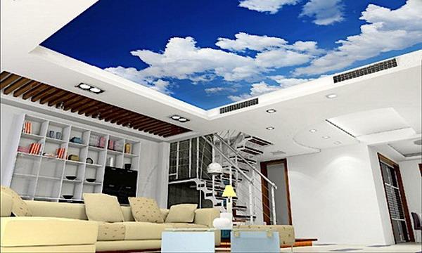 Фотообои облака и небо на потолок
