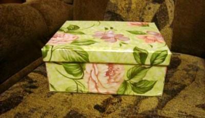 фото коробки обклеенной обоями