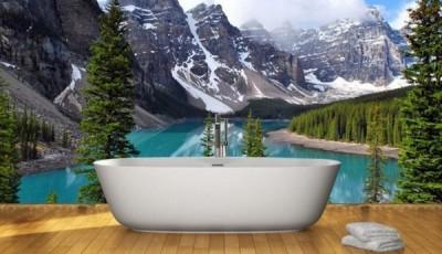 фотообои для ванной комнаты фото озеро