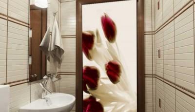 фотообои для ванной комнаты на дверь фото