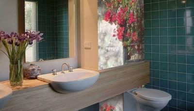 фотообои для ванной комнаты цветки сирени