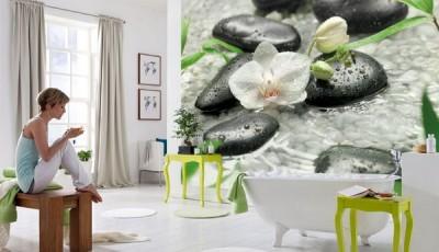 фотообои в ванную кувшинки