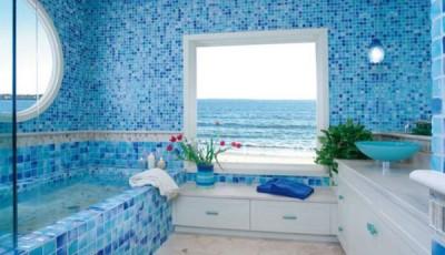 фотообои в ванную окно