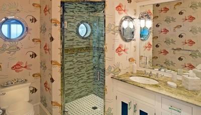 фотообои в ванную рыбки