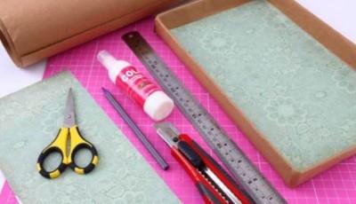 инструменты для обклейки коробки обоями