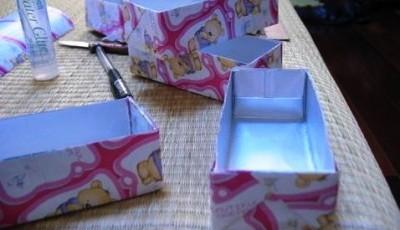 как сделать коробку с обоями
