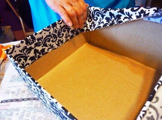 Мастер классы обклеить коробки обоями