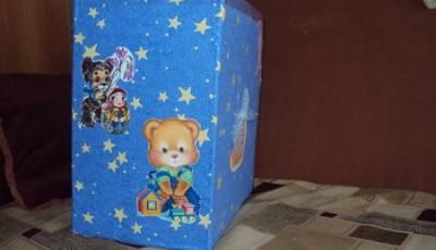 сделайте коробку для подарка ребенку