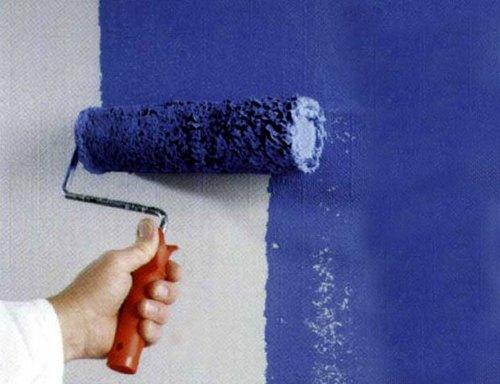 Стеклообои не так уж и сложно покрасить своими руками