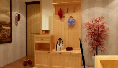 красивое сочетание обоев с мебелью в коридоре