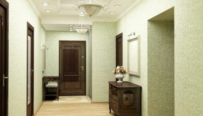 салатовые обои для коридора