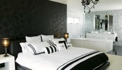 модные черные обои 2016 для спальни