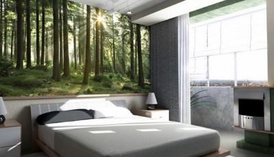 Interior of a sleeping room 3d render