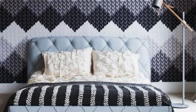 модные обои для спальни 2016 года с текстурой