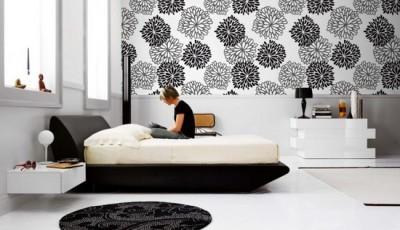 модные обои с цветочным рисунком для спальни 2016 года