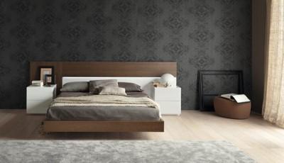 модные серые обои для спальни 2016 года