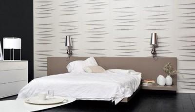 модные светло серые обои для спальни 2016 года