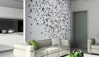 обои для зала с рисунком бабочки 2016