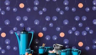 темно синие обои 2016 для кухни