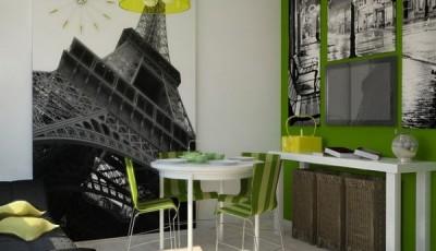 Фотообои 3д на кухню париж