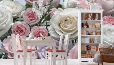 Фотообои 3д на кухню розы