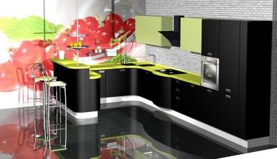 Фотообои 3д на кухню смородина