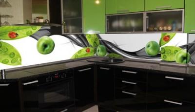 Фотообои 3д на кухню зеленые