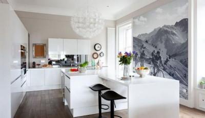 фотообои для кухни горы