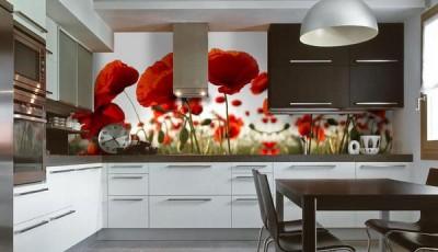 фотообои для кухни красные маки