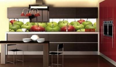 фотообои для кухни красные зеленые яблоки