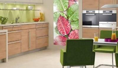 фотообои для кухни листья