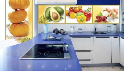 фотообои для кухни овощи перцы тыквы