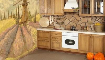 фотообои для кухни прованс