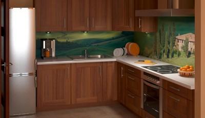 фотообои для кухни с кипарисами