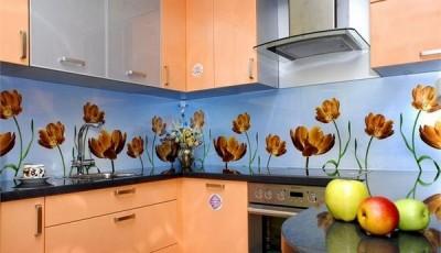 фотообои для кухни тюльпаны