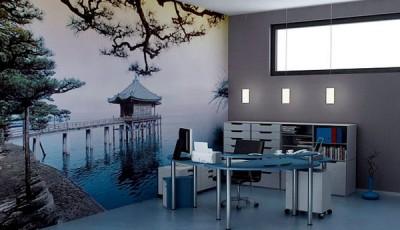 фотообои для кухни в японском стиле